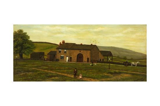 Old Farmhouse, Syke, Rochdale, Lancashire, 1915-C. W. Nurse-Giclee Print