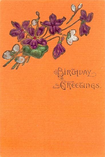 Old Fashioned Birthday Greetings--Art Print