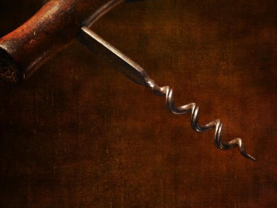 Old-Fashioned Corkscrew-Steve Lupton-Photographic Print