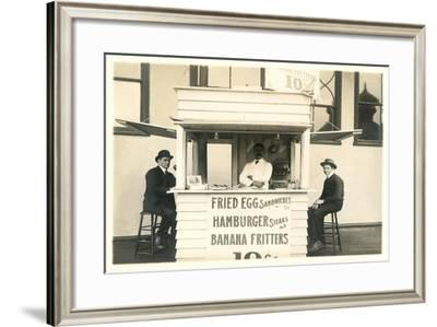 Old Fashioned Fast Food Stand--Framed Art Print