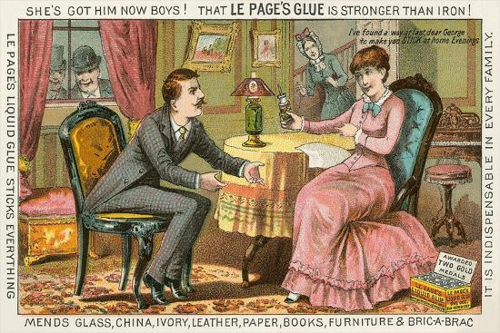 Old Fashioned Glue Ad--Art Print