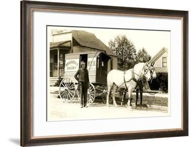 Old Fashioned Milk Wagon--Framed Art Print