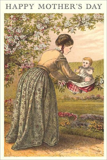 Old Fashioned Mother and Baby--Art Print