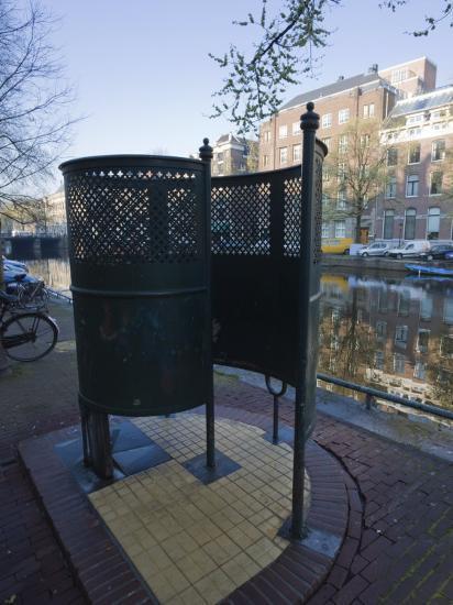 Old Fashioned Outdoor Lavatory or Pissoir, Amsterdam, Netherlands, Europe-Amanda Hall-Photographic Print