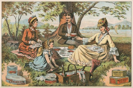 Old Fashioned Picnic--Art Print
