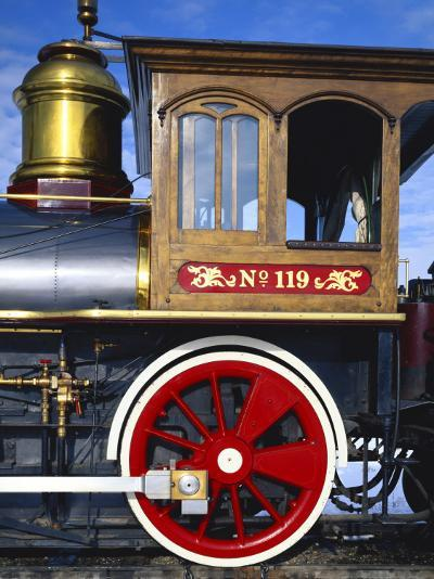 Old Fashioned Steam Train at Golden Spike National Historic Site, Great Basin, Utah-Scott T^ Smith-Photographic Print
