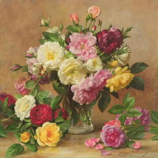 Old Fashioned Victorian Roses, 1995-Albert Williams-Giclee Print