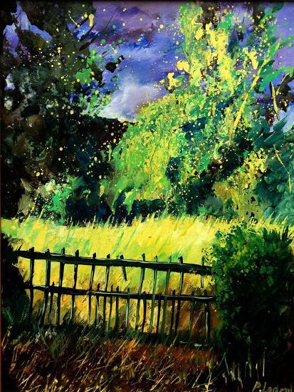 Old fence-Pol Ledent-Art Print