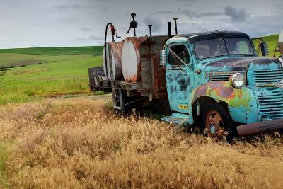 Old Field Fuel Truck with Multi Color Paint--Photographic Print