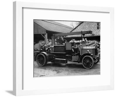 Old Fire Engine--Framed Photographic Print