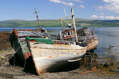 Old Fishing Boats, Near Salen, Mull, Argyll and Bute, Scotland-Peter Thompson-Photographic Print