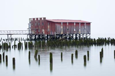 Old Fishing Cannery on the Columbia River, Astoria, Oregon, USA-Jamie & Judy Wild-Photographic Print