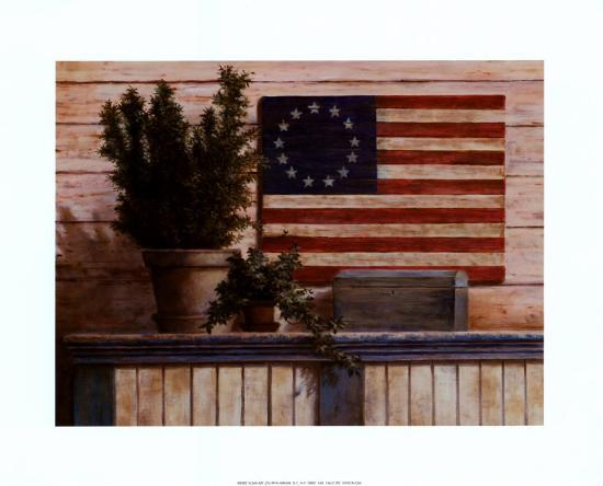 Old Flag with Ivy-T^ C^ Chiu-Art Print