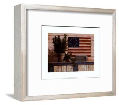 Old Flag with Ivy-T^ C^ Chiu-Framed Art Print