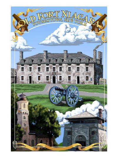Old Fort Niagara - Youngstown, New York-Lantern Press-Art Print