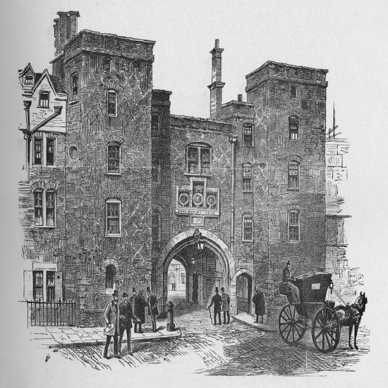 'Old Gateway, Lincoln's Inn', 1890-Unknown-Giclee Print