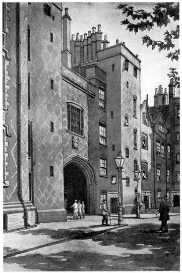 Old Gateway to Lincoln's Inn, London, 1933-RA Wilson-Giclee Print