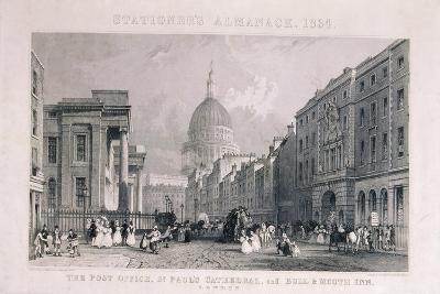 Old General Post Office, St Martin's Le Grand, London, 1829-CJ Emblem-Giclee Print