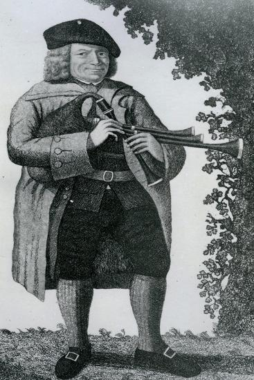 Old Geordie Sime, a Famous Piper in His Time', 1789-John Kay-Giclee Print