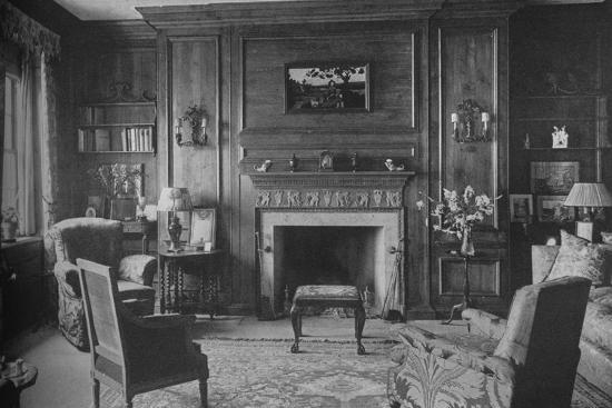 Old Georgian panelling in Miss Morgan's Office, house of Miss Anne Morgan, New York City, 1924-Unknown-Photographic Print