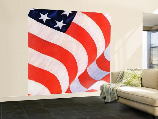 """""""Old Glory,"""" July 4, 1942-John Clymer-Wall Mural – Large"""