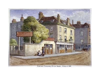 Old Goat and Compasses Inn, Marylebone Road, London, 1868-JT Wilson-Giclee Print
