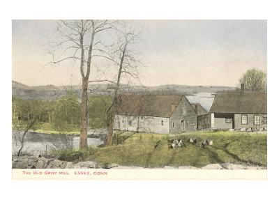 Old Grist Mill, Essex, Connecticut--Art Print