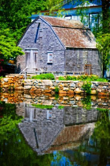 Old Grist mill Portrait-Jobe Waters-Giclee Print