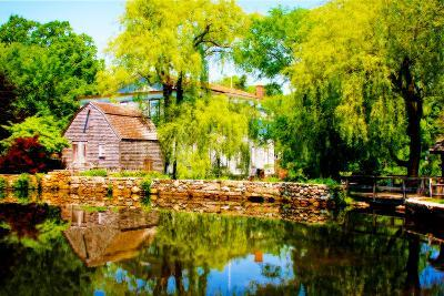 Old Grist Mill-Jobe Waters-Giclee Print
