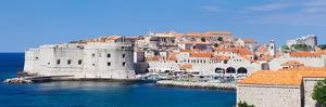 Old Harbor and Old Town of Dubrovnik, Dalmatia, Croatia