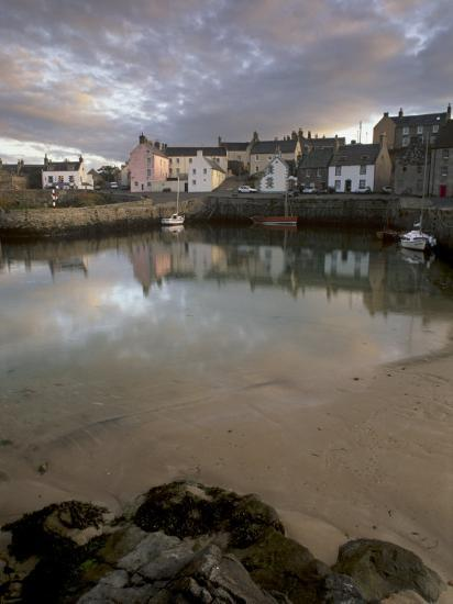 Old Harbour Dating from the 17th Century, of Portsoy at Sunset, Near Banff, Aberdeenshire, Scotland-Patrick Dieudonne-Photographic Print