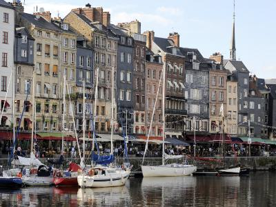 Old Harbour, St. Catherine's Quay and Spire of St. Catherine's Church Behind, Honfleur-Peter Richardson-Photographic Print