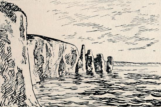 'Old Harry Rocks', 1929-Unknown-Giclee Print