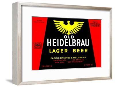 Old Heidelbrau Lager Beer--Framed Art Print