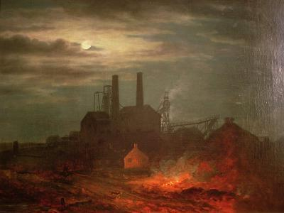 Old Hetton Colliery, Newcastle--Giclee Print