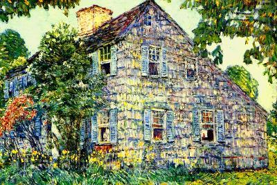 Old House, East Hampton, 1917-Childe Hassam-Giclee Print