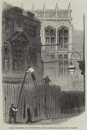 Old House in Fetter-Lane--Giclee Print