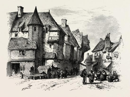 Old Houses at Dol or Dol-De-Bretagne, Normandy and Brittany, France, 19th Century--Giclee Print