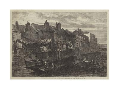 Old Houses at Lambeth Demolished for the Southern Embankment of the Thames--Giclee Print