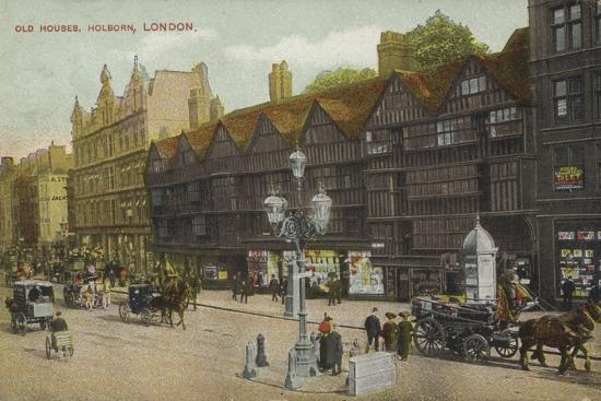 Old Houses, Holborn, London--Photographic Print