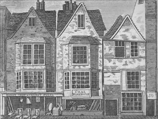 Old houses in St John Street, Clerkenwell, London, c1811 (1911)-Unknown-Giclee Print