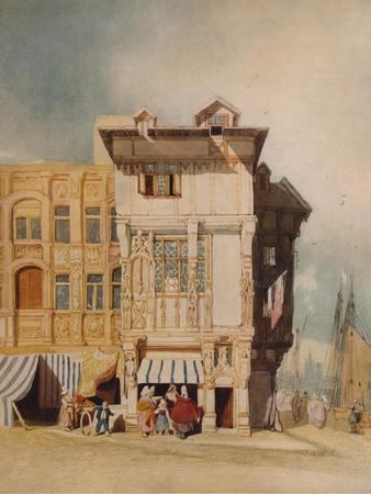 Old Houses, with Figures, c1836-John Sell Cotman-Giclee Print