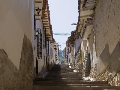 Old Inca Wall Foundations, Cusco, Peru-Diane Johnson-Photographic Print