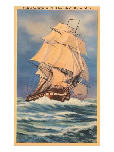 Old Ironsides Painting, Boston, Mass.--Art Print