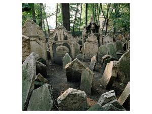 Old Jewish Cemetery, Josefov, Old Town, Prague, Central Bohemia, Czech Republic