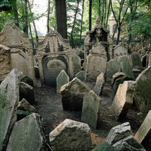 Old Jewish Cemetery, Josefov, Old Town, Prague, Central Bohemia, Czech Republic