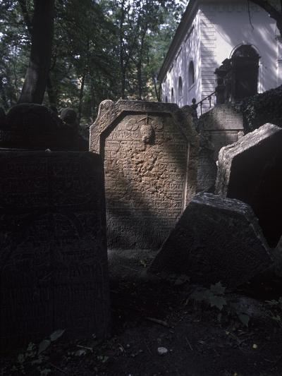 Old Jewish Cemetery, Prague, Czech Republic--Photographic Print