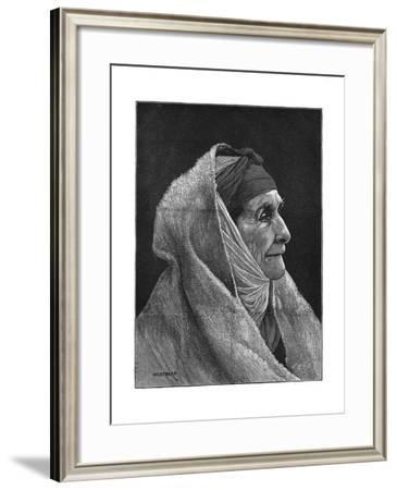 Old Jewish Woman of Cairo, Egypt, 1882- Montbard-Framed Giclee Print