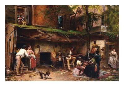 Old Kentucky Home, African American Life in the South-Eastman Johnson-Art Print
