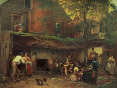 Old Kentucky Home Life in the South, 1859-Eastman Johnson-Giclee Print